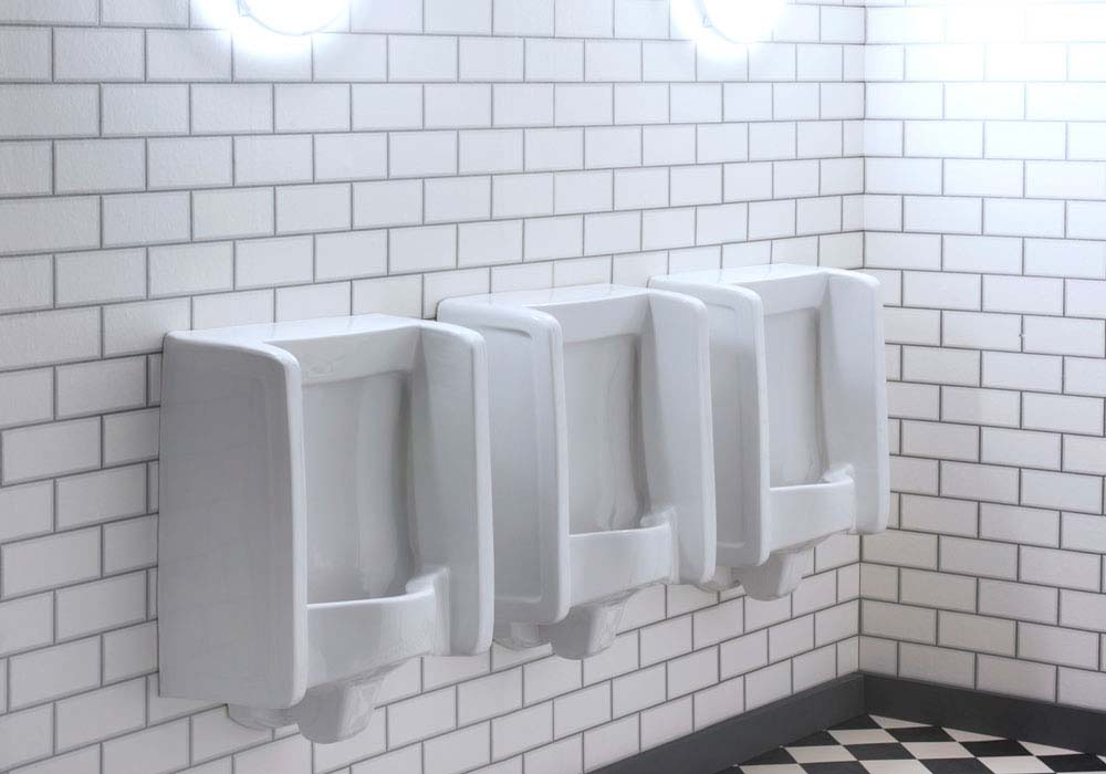 Healey & Lord Florida Urinals Are Supplied As Top Inlet or Rear Inlet Urinals